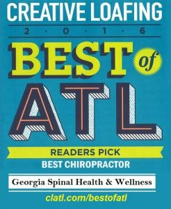 Creative Loafing best of Atlanta best chiropractor 2016 Atlanta, GA